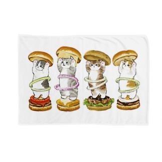 にゃんこバーガー Blankets