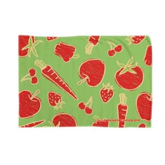 赤い野菜と果物 Blankets