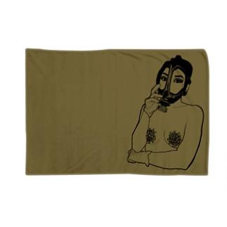 うのの感染症対策(国防色) Blankets