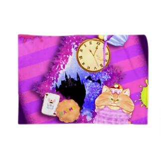 《ハロウィン》04*チェシャきじとら猫*紫背景ver. Blankets