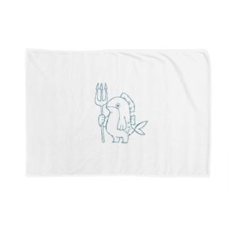 ぎょじん(青線) Blankets