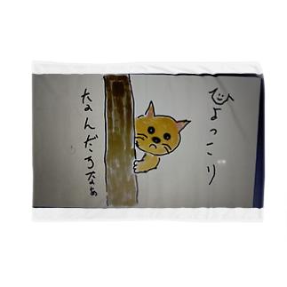 電柱から顔出すす猫 Blankets