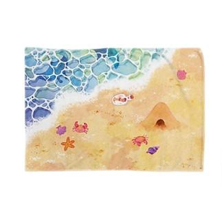 マンタと砂浜 Blankets