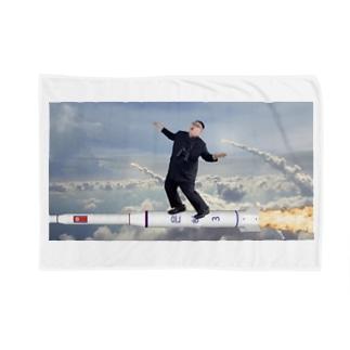 ぷりん将軍テポ乗りブランケット Blankets