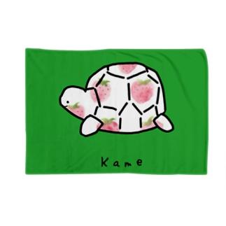 カメイチゴ柄 Blankets