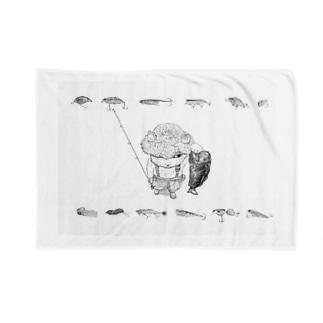 釣り猫日和~バスVr~ Blankets