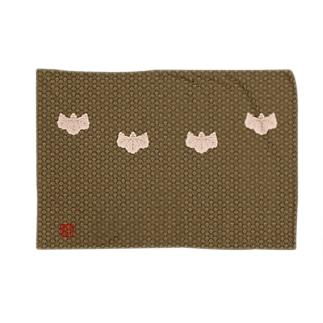 小文地桐紋付韋胴服柄 ブランケット 角印ロゴ Blankets