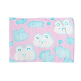 もくもくまピンク Blankets