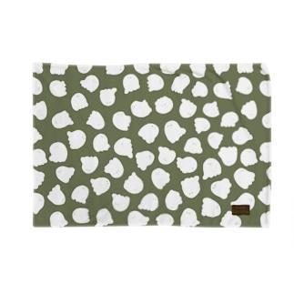 おばけのすけがいっぱい(緑) Blankets
