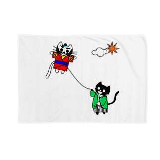 たまとクロの凧揚げ Blankets