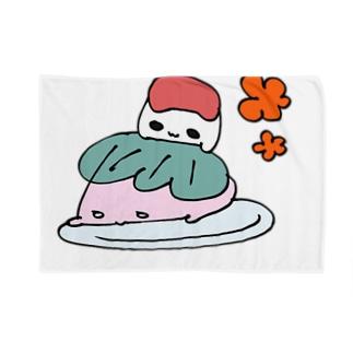 さくらおもちこちゃんとあんころもちよちゃん Blankets