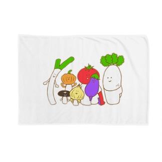 野菜ファミリー Blankets