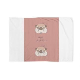ウッドチャックの冬眠(ピンク) Blankets