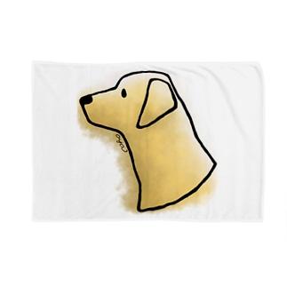 ラブラドール・レトリーバー〈水彩・滲み風〉 Blankets