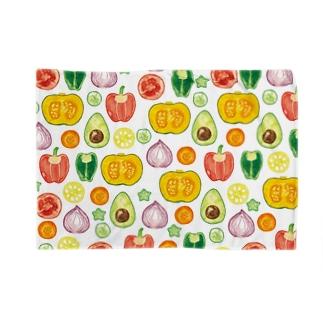 野菜柄ブランケット Blankets