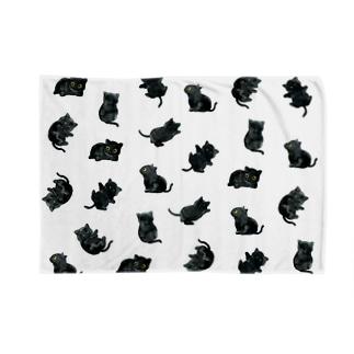 黒猫ブランケット Blankets