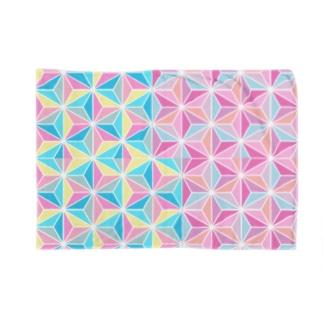麻の葉・二色・重ね Blankets
