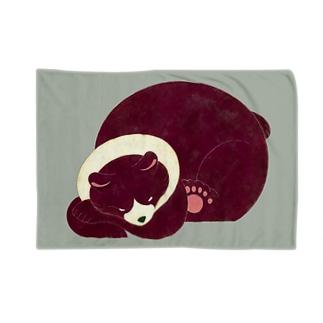 スヤスヤシリーズ_くまさん Blankets