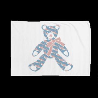 イラストレーター さかたようこの〈 #みんなSAME 009/365 〉テディベア好きのためのSAME Blankets