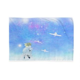 クリムオンラインショップ suzuri店の白鳥とイーノック Blankets