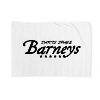 Barneyロゴ ブラック Blanket