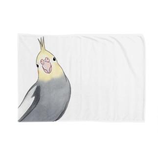 おしゃまなオカメインコちゃん【まめるりはことり】 Blanket