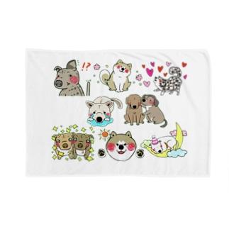 保護犬達の楽園メンバー集合2 Blankets