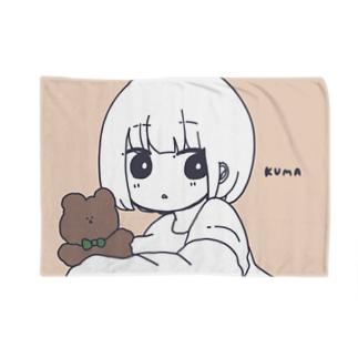 くま Blankets