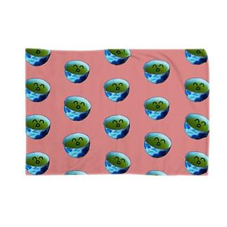 お茶ちん(笑)ブランケット・ピンク色 Blankets