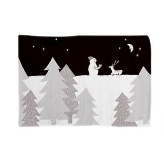 雪コーヒーB1 Blankets