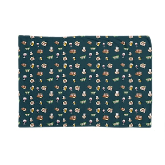 YURU居酒屋(緑) Blankets