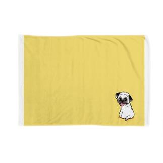 きいろのパグ Blankets