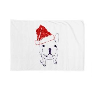 クリスマス@かわいいフレンチブル Blankets