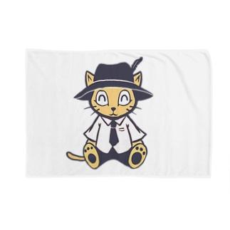旅猫くん お座り Blankets