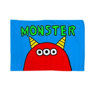 赤3つ目モンスター Blankets