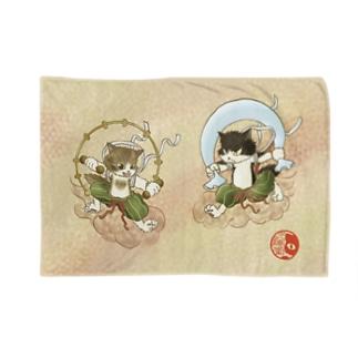 風猫雷猫図屏風 Blankets