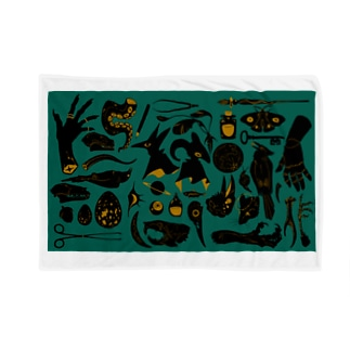 蒐集家の部屋(青緑ver.) Blankets