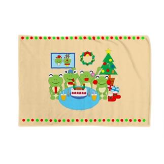 クリスマスパーティのかえるさん Blankets