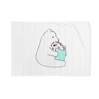オリジナル ハリネズミのソフィー、シロクマに本を読んでもらう。 Blankets