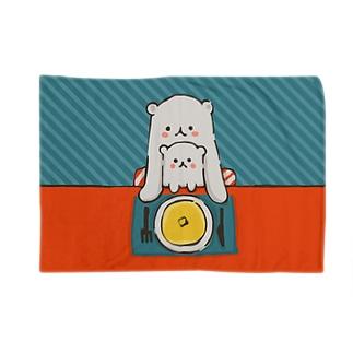 しろくま親子(おやつ) Blankets