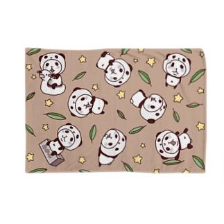 パンダinぱんだ(総柄) Blankets
