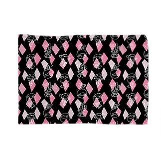 【メリのすけフレンズ】(黒・ピンク) Blankets