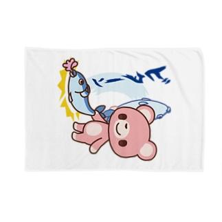 とっとこビターン!クマ Blankets