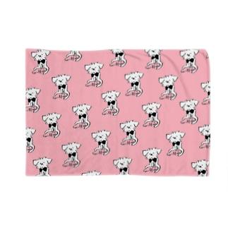 おすわりグリフォン ピンク Blankets