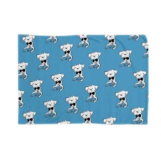 おすわりグリフォン ブルー Blankets