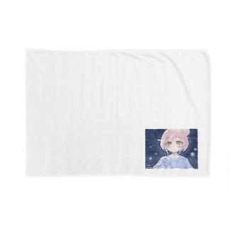 ゆるふわお団子ヘア少女と雪と Blankets