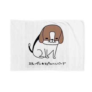パンダと犬の犬 ブランケット