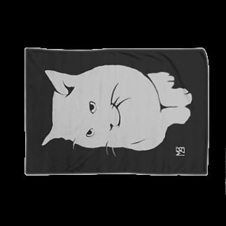 無真獣73号の簡潔なる猫のブランケット・グレー Blankets