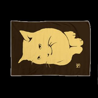 無真獣73号の簡潔なる猫のブランケット・セピア Blankets