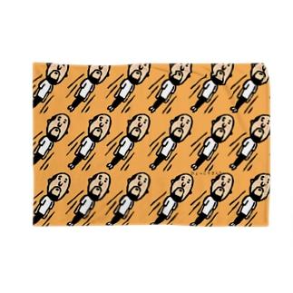 ビューンひょっこりさん(橙) Blankets